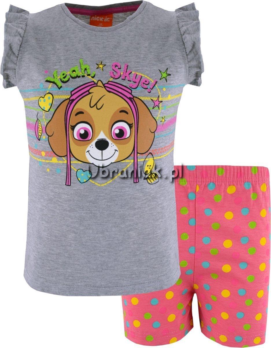 9eac6953399e14 Piżama Psi Patrol szaro-różowa dla dziewczynki,rozmiary 98-128 ...