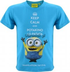 Bluzka Minionki Keep Calm niebieska