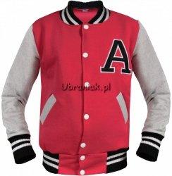 Bluza Bejsbolówka z literą A Czerwona