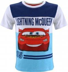 T-shirt Auta Zygzak Mcqueen biały