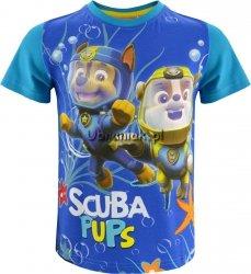 T-shirt Psi Patrol nurkowie niebieski