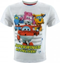 T-shirt Super Wings  biały