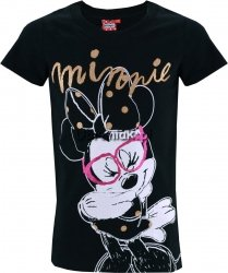 T-shirt Myszka Minnie czarny
