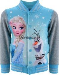 Bluza Bejsbolówka Frozen Elza i Olaf niebieska