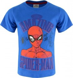 T-shirt Spiderman Amazing niebieski