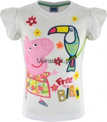 Bluzka Świnka Peppa Bird biała