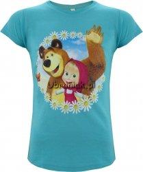 T-shirt Masza i Niedźwiedz niebieski