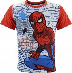 T-shirt Spiderman biało-czerwony