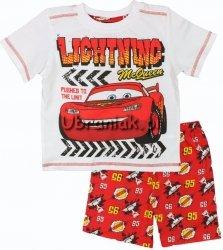 Piżama Auta Cars letnia czerwona