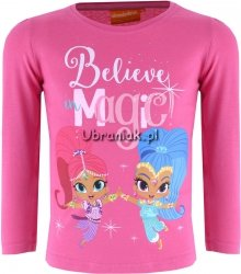 Bluzka Shimmer i Shine Magic różowa