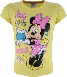 T-shirt Myszka Minnie Love żółty