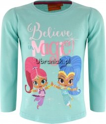 Bluzka Shimmer i Shine Magic turkus