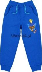 Spodnie dresowe wiosenne Strażak Sam niebieskie