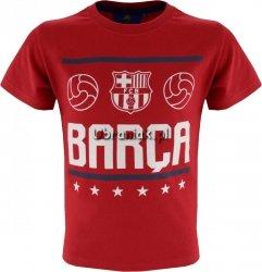 T-shirt FC Barcelona Barca czerwony