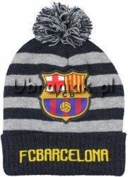 Czapka zimowa FC Barcelona szara