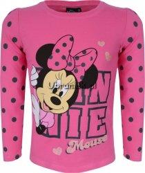 Bluzka Myszka Minnie w grochy różowa