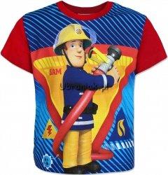 T-shirt Strażak Sam czerwony
