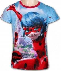 T-shirt Miraculum Biedronka i Czarny Kot Paryż czerwony
