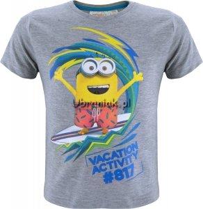 T-shirt Minionki Wakacje szary