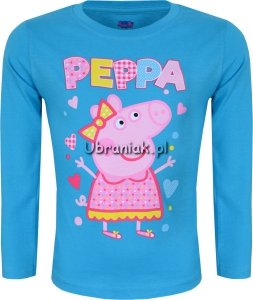 Bluzka Świnka Peppa niebieska