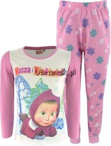 Piżama Masza i Niedźwiedź dla dziewczynki róż