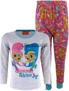 Piżama Shimmer i Shine różowo-szara