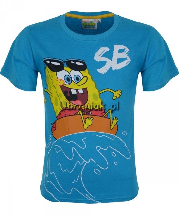 Koszulka SpongeBob na Fali niebieska