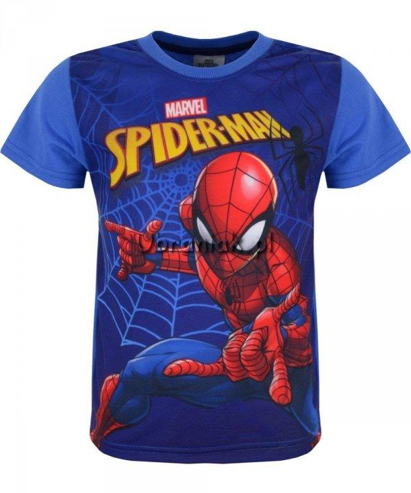T-shirt Spiderman w Sieci niebieski