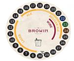 Termometr ciekłokrystaliczny - do fermentacji