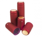 Czerwone kapturki termokurczliwe