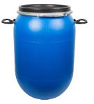Beczka na kapustę, ogórki 80L, niebieska z obręczą