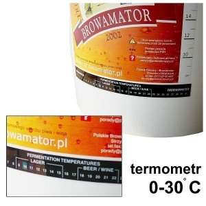 Termometr ciekłokrystaliczny Brewferm 0 do +30°C - samoprzylepny