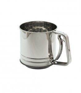 Przesiewacz stalowy do mąki - Kubek - 450 g