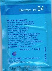 Drożdże piwowarskie Fermentis Safale S-04 saszetka 11.5 g