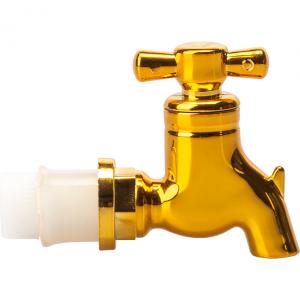 Kranik - plastikowy, złoty, do kolorowych beczułek