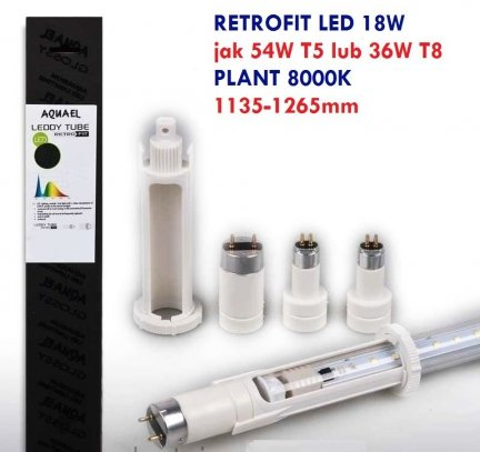AQUAEL Retrofit Leddy Tube 18W PLANT LED T5 54W T8 36W