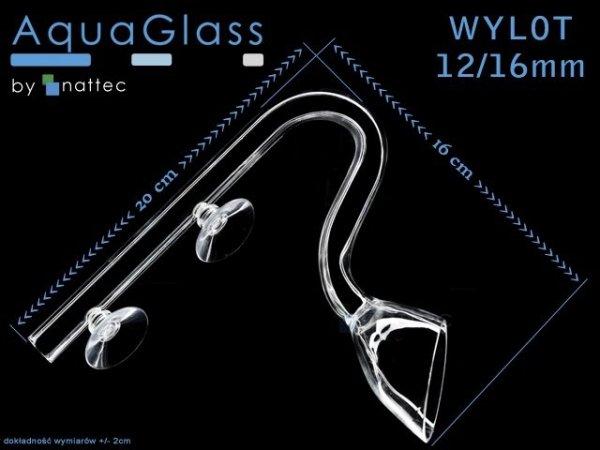 Szklany Wlot+Wylot Kielich Na Wąż 12/16Mm(Komplet)