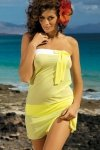 Plážová tunika Marko Mia Lime M-241 žlutá