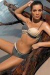 Dámské plavky Marko Liliana Jungle-Light Skin M-259 Šedo-béžové