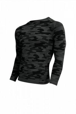 Sesto Senso Thermo Active Military Style dlouhý rukáv tmavě šedý Pánské sportovní triko
