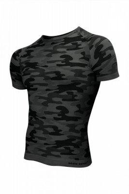 Sesto Senso Thermo Active Military Style krátký rukáv tmavě šedý Pánské sportovní triko