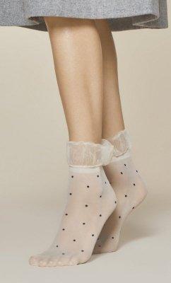 Fiore Rosa 20 Den Ecru Ponožky