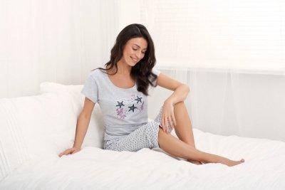 Luna Holiday 677 Šedé Dámské pyžamo