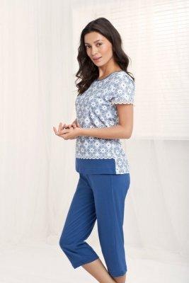 Luna Amelie 542 Modré Dámské pyžamo