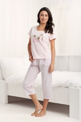 Luna Holiday 677 Růžové Dámské pyžamo