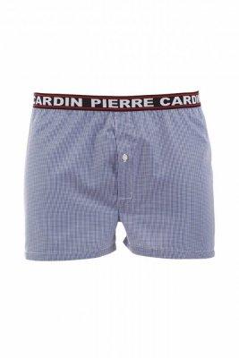 Pierre Cardin K3 károvaný tmavě modrý Pánské šortký