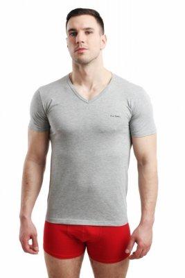 Pierre Cardin Vneck šedý Pánské triko