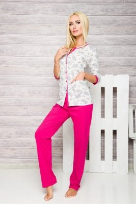 Taro Fabia 2126 Fuchsie Dámské pyžamo