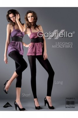 Gabriella 138 microfibre short grafitové Legíny