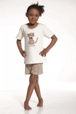 Cornette 787/32 Sweet cat ecru Dívčí pyžamo